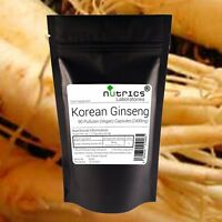 Nutrics® KOREAN GINSENG 2400mg 90 Vegan Capsules 80%Ginsensides PANAX no tablets