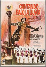 SINGING IN THE RAIN, MGM, R-1970s Original Poster GENE KELLY, Spanish, LINEN