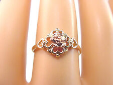 ROSE FLOWER RING 10K YELLOW and ROSE GOLD