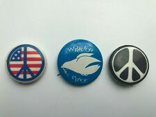Peace sign/Dove Pins (3)-70's