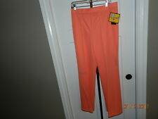 VINTAGE VTG 1970'S WOMENS polyester PANTS Peach MONTGOMERY WARD SZ 20