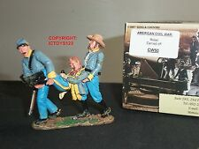KING AND COUNTRY CW50 AMERICAN CIVIL WAR REBEL CARRIED OFF METAL TOY SOLDIER SET
