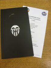 07/11/2012 Valencia V bate Borisov [] partido oficial de la Liga de Campeones de día menú [a