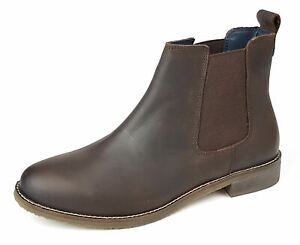 Frank James Aintree Leather Ladies Womans Formal Chelsea Ankle Boots Brown