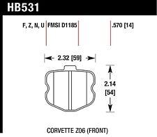 Hawk Performance HB531U.570 Unbeatable Pad And Rotor Wear Disc Brake Pads