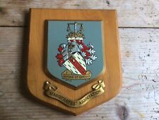 More details for vintage hand painted heraldic wall plaque/shield - the magistrates' association