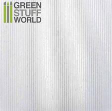 ABS Embossed White Plasticard - CORRUGATED 0.5mm - Styrene Plastic Sheets HIPS