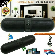 Portable Mini Super Bass Stereo Speaker Cell Phone Laptop Tablet USB FM Speaker
