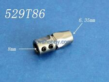Steel Flex collet coupler for 8mm motor shaft and 6.35 mm 1/4 inch flex cable