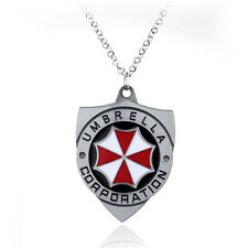 COLLANA RESIDENT EVIL SHIELD DISTINTIVO UMBRELLA COSPLAY NECKLACE BADGE ZOMBIE