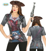 Adult Womens Pirate Design T-Shirt