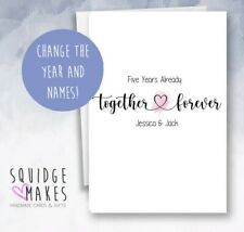 Personalised Name Anniversary Card * together forever * First Anniversary card
