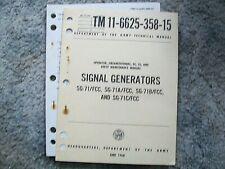 Tm 11-6625-358-15 Operator, Organizational, Ds, Gs, & Depot Maint. = Sg-71 gen.