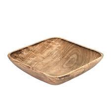 Functional Square Shaped Mango Tree Wood Serving Dish or Fruit Bowl