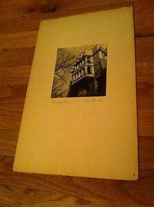vintage b&w  photographic image John Mutch Princeton University Tower New Jersey