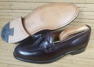 RARE Men 8.5D Alden Ben Silver 6038 Burgundy Shell Cordovan Tassel Loafers