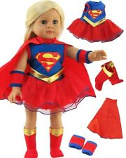"Super Girl Costume with Boots for 18"" American Girl Doll Clothes Lovvbugg"