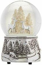 Reed & Barton North Pole Bound Christmas Snowglobe That Plays Silent Night Music