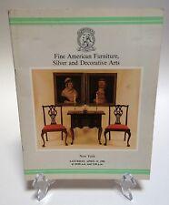 Christies Auction Catalog 1981 Fine American Furniture Silver Decorative Arts