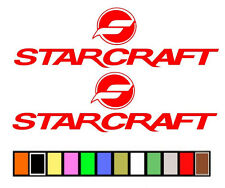 Starcraft Boat Stickers Decals Fishing Skiing*Any Size Or Color Available*