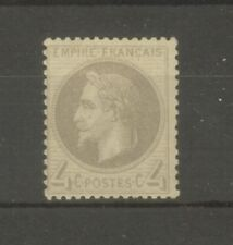 "FRANCE STAMP TIMBRE N° 27 "" NAPOLEON III 4c GRIS "" NEUF xx TB SIGNE"