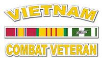"Vietnam Combat Veteran with Campaign Ribbon 5.5"" Window Sticker 'Free Shipping'"