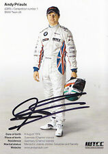 Andy Priaulx Hand Signed Promo Card 1.