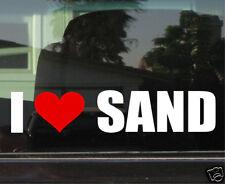 I LOVE SAND (4x4 OFF ROAD)  WINDOW/BUMPER STICKER