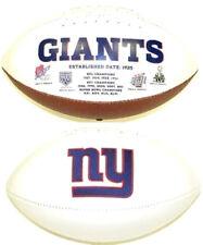 New York Giants NFL Team Logo White Panel Rawlings Fotoball Full Size Football
