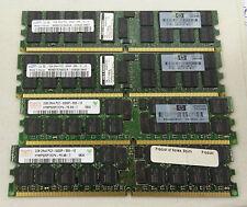 Lot of 4 HP 405476-051 2GB PC2-5300P DDR2 ECC REG Server Memory Modules