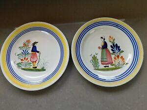 """Vintage Henriot Quimper France, 9 3/4"""" Plates, See Details."""