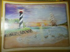 """WENDELL COOLEY Art Print - """"BEACON OF HOPE""""  1998 - signed   18 1/4"""" X 24 3/4"""""""