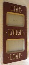 """Live Laugh Love Photo Picture Frame Wood Wooden 8"""" Wide 18"""" Long"""
