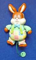American Greetings PIN Easter Vintage BUNNY Rabbit Bloomer PULL STRING Holiday
