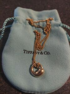 18k gold tiffany and co pendant necklace preowned. Elsa Peretti Eternal