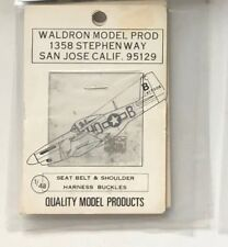 WALDRON 1/48 Seat Belt & Harness WWII Aircraft PhotoEtched Model Detail Part NEW
