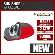100% Genuine! Scanpan Soft Touch Spectrum Mouse Knife Sharpener Red!