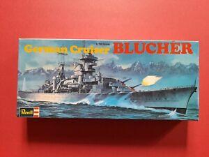 German WW2 heavy cruiser Blucher, 1/720 scale plastic model kit, Revell