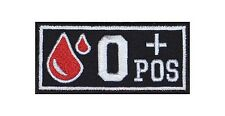 0 + Pos Blutgruppe Patch Aufnäher Badge Blood Type Biker Rocker Bügelbild Kutte
