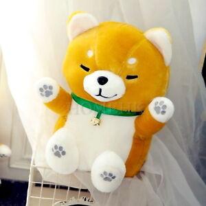Shiba Inu Dog Doll Large Plush Lucky Fortune Maneki Neko Plush Curly Fur Japan