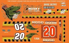 #20 Tony Stewart Jurassic Park 2004 1/64th Ho Scale Slot Car Waterslide Decals