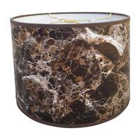 Royal Designs Dark Brown Marble Texture Hardback Lamp Shade