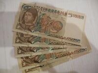 Banconota da 5.000 lire Bellini FDS
