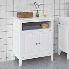 SoBuy  Mobiletto base per bagno o Ingresso, credenza, con due ante, FRG204-W,IT