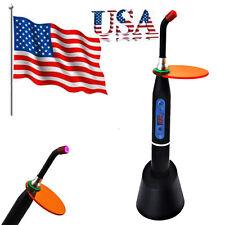 USA- Dental 10W Wireless Cordless Optical LED Curing Light Lamp 2000mw-Black