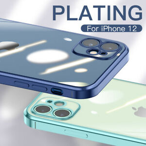 Plating Clear TPU Soft Case Cover For iPhone 12 Mini 11 Pro Max XR X 8 7 Plus