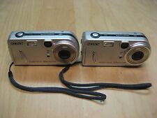 Lot of 2 Sony Cyber-shot DSC-P72 3.2 MP Digital Camera - Silver