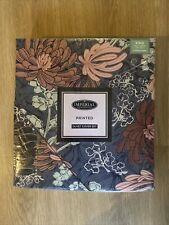 Imperial Slate Oriental Flower Garden Kingsize Duvet Cover Set
