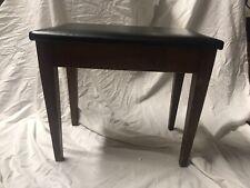 Vintage Wood Piano Bench Black Vinyl Tapered Leg Mid Century Modern Baldwin Co!
