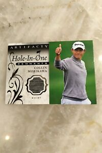 Colin Morikawa Hole-in-One Jersey Remnants Card 2021 Upper Deck Artifacts Golf